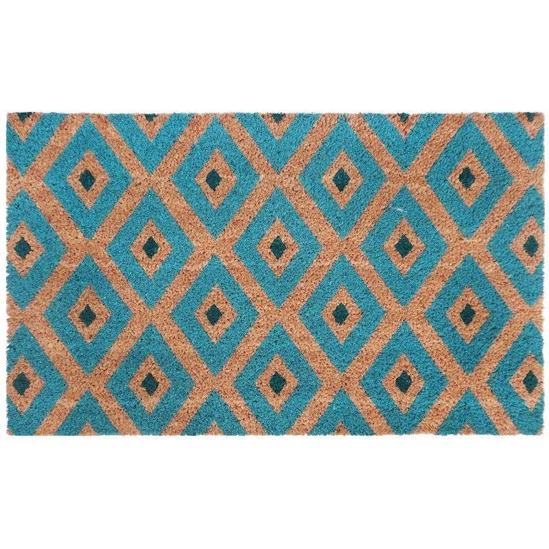 Kimberley 45x75cm Coir Doormat - Blue