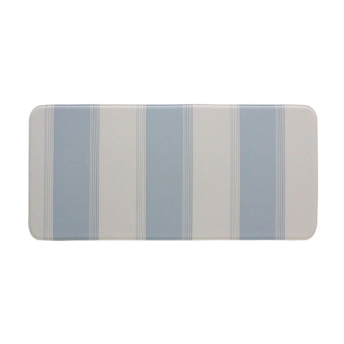 Nautica Reversible Kitchen Mat 45x95cm Blue Grey
