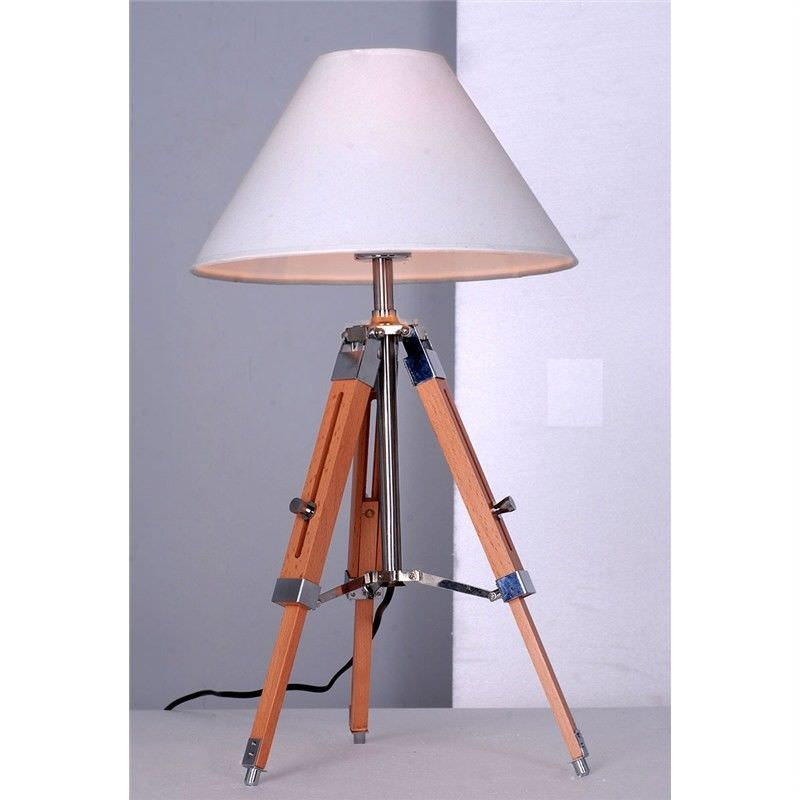 Tripod Table Lamp in White