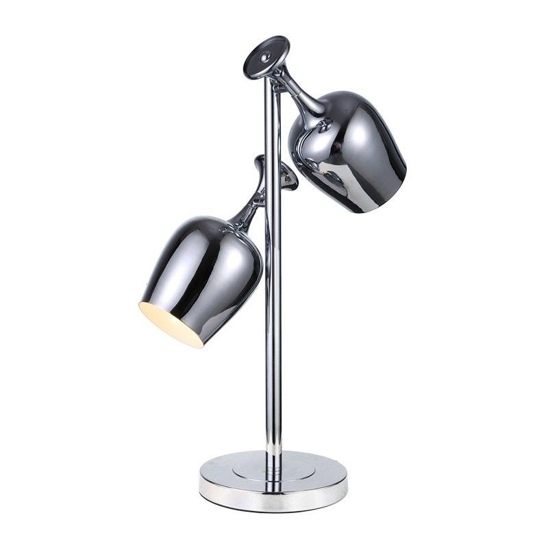 Wine Glass Shape Stainless Steel Table Lamp in Chrome