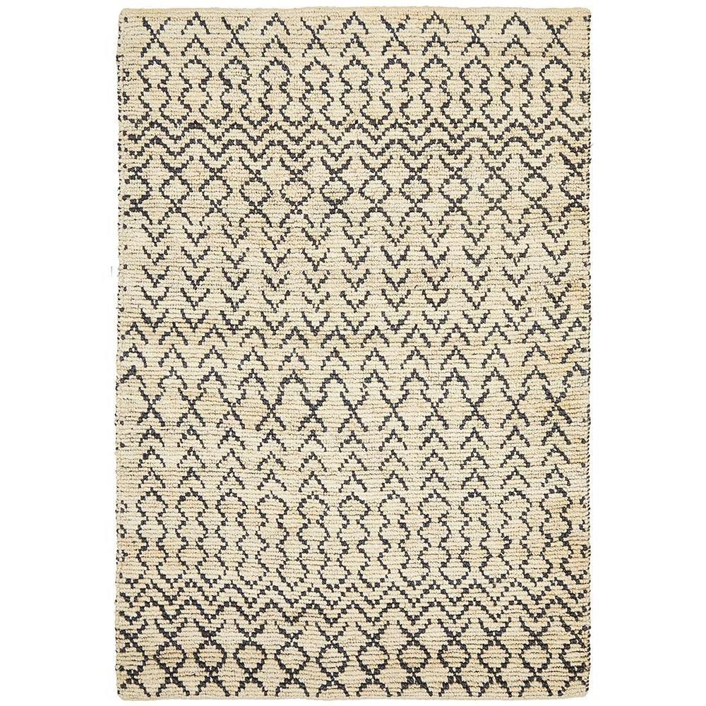 Elki Handwoven Tribal Jute Rug, 230x320cm