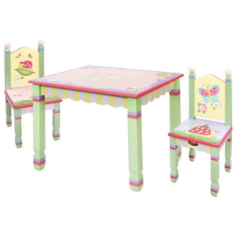 Teamson Fantasy Fields Magic Garden Kids Table and 2 Chairs Set
