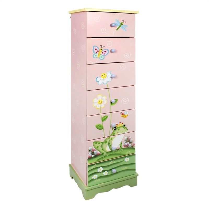 Teamson Fantasy Fields Magic Garden Kids 7 Drawer Cabinet