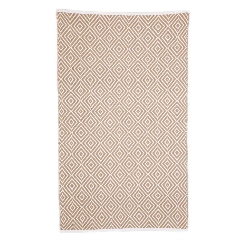 Kimberly Beige Small Cotton Rug - 60x90cm
