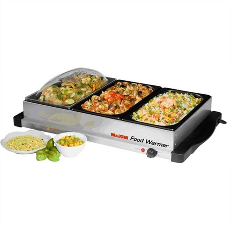 Maxim 3 Trays Stainless Food Warmer - Buffet Server