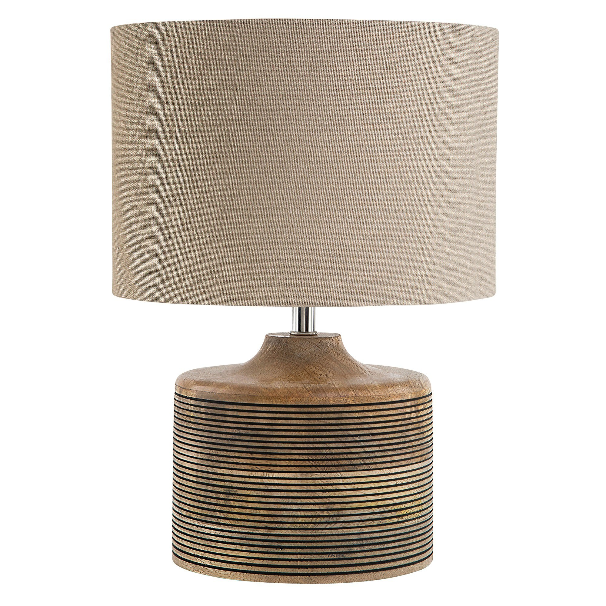Lucas Mango Wood Base Table Lamp