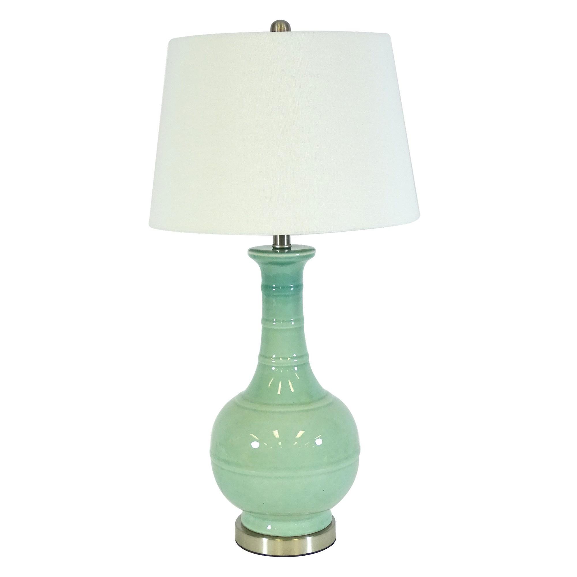 Evianna Ceramic Base Table Lamp, Sea Green
