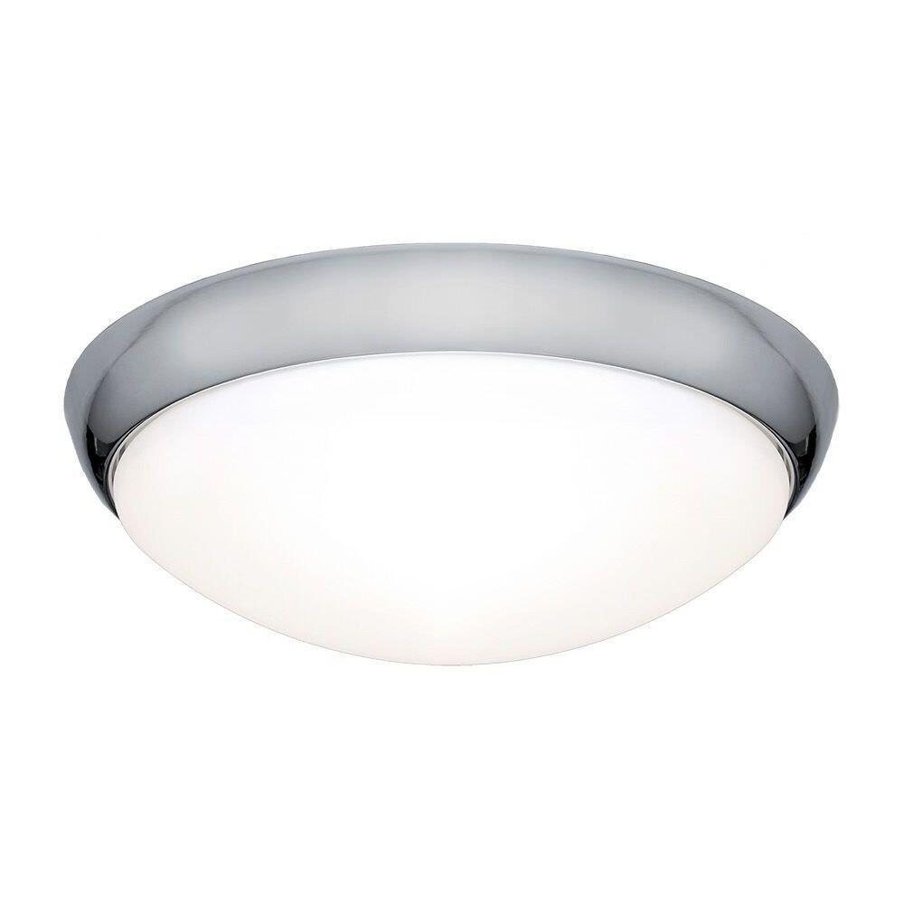 Lancer LED Oyster Light, 16W / 5000K, Chrome