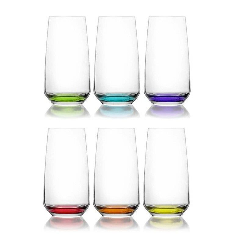 Lal Set of 6 Coral Collection Highball Tumblers