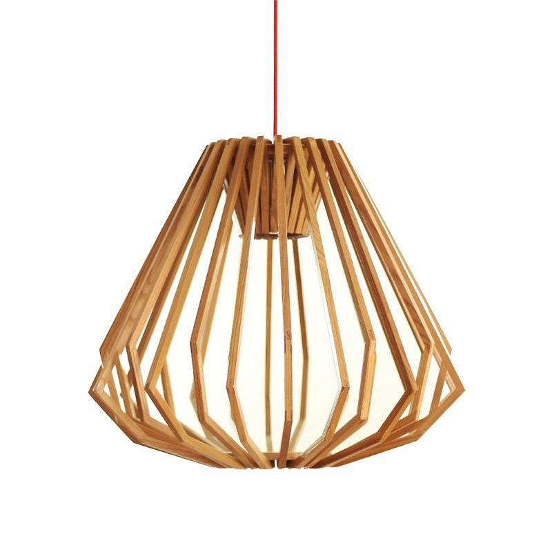 Liora Wooden Squat Pendant Light