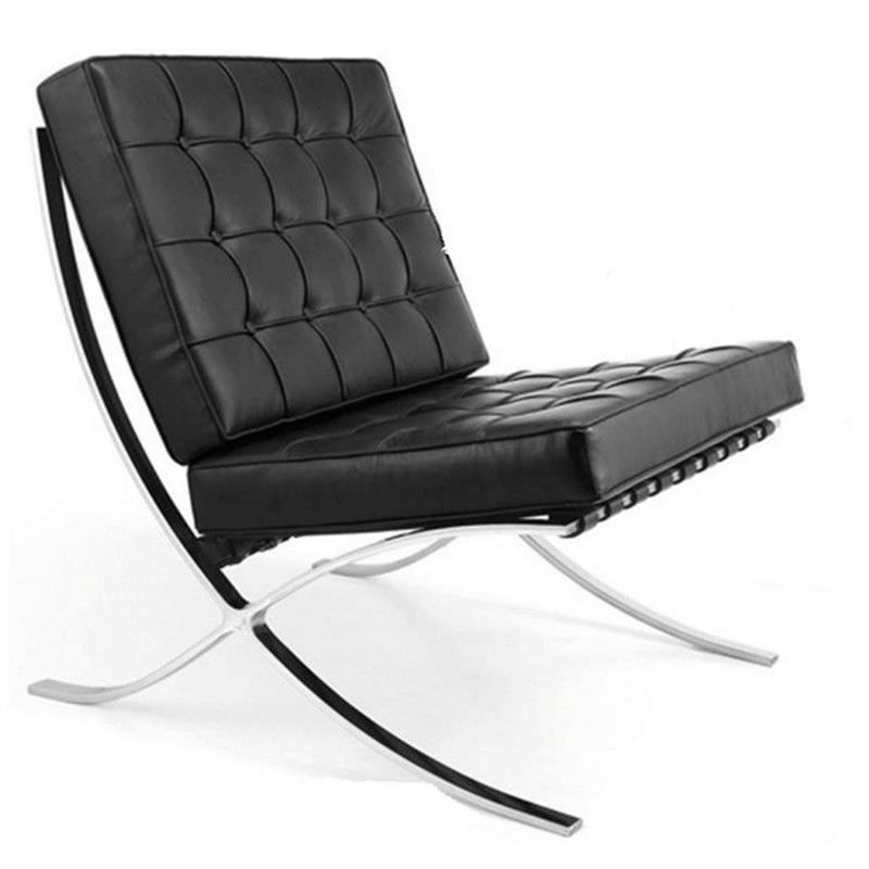 Barcelona Chair Replica in Black