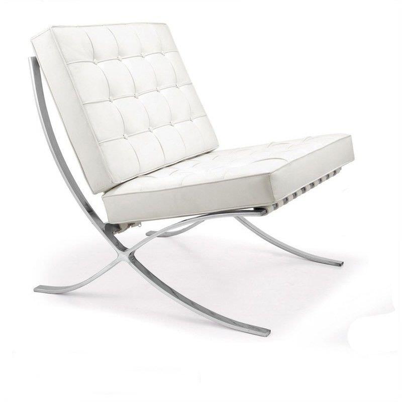 Barcelona Chair Replica in White