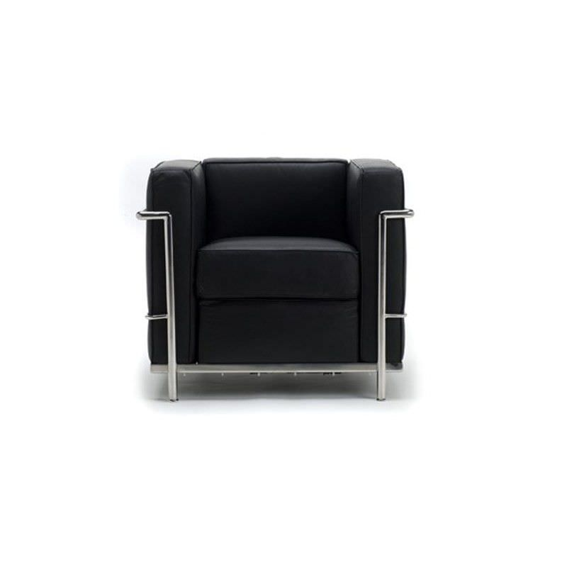 Le Corbusier Inspired Arm Chair - Black