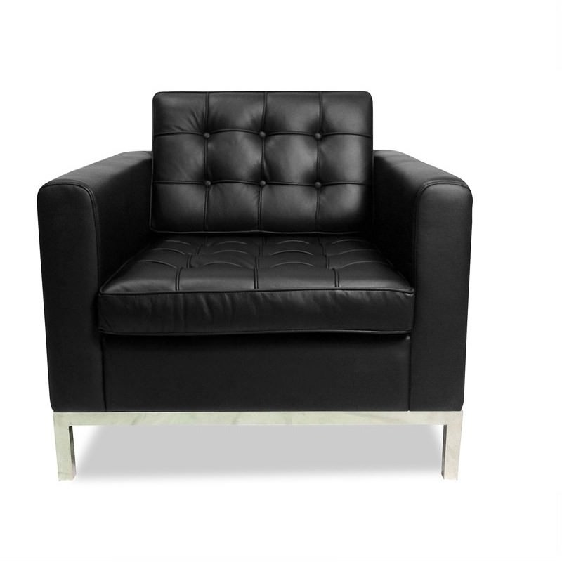 Replica Florence Knoll arm chair - Black
