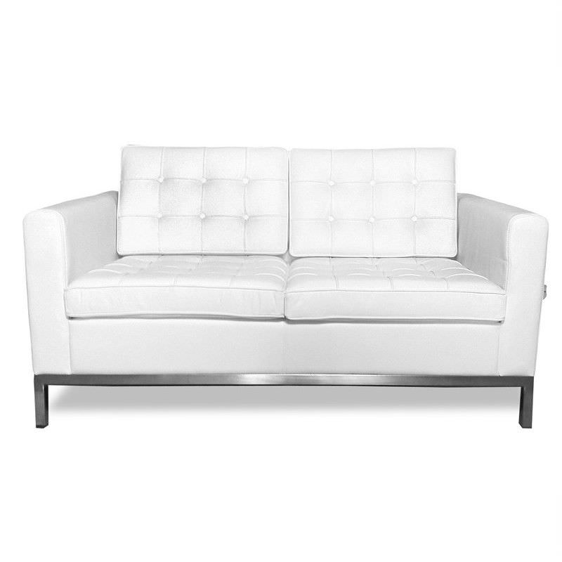 Replica Florence Knoll 2 Seater Arm Chair Sofa White
