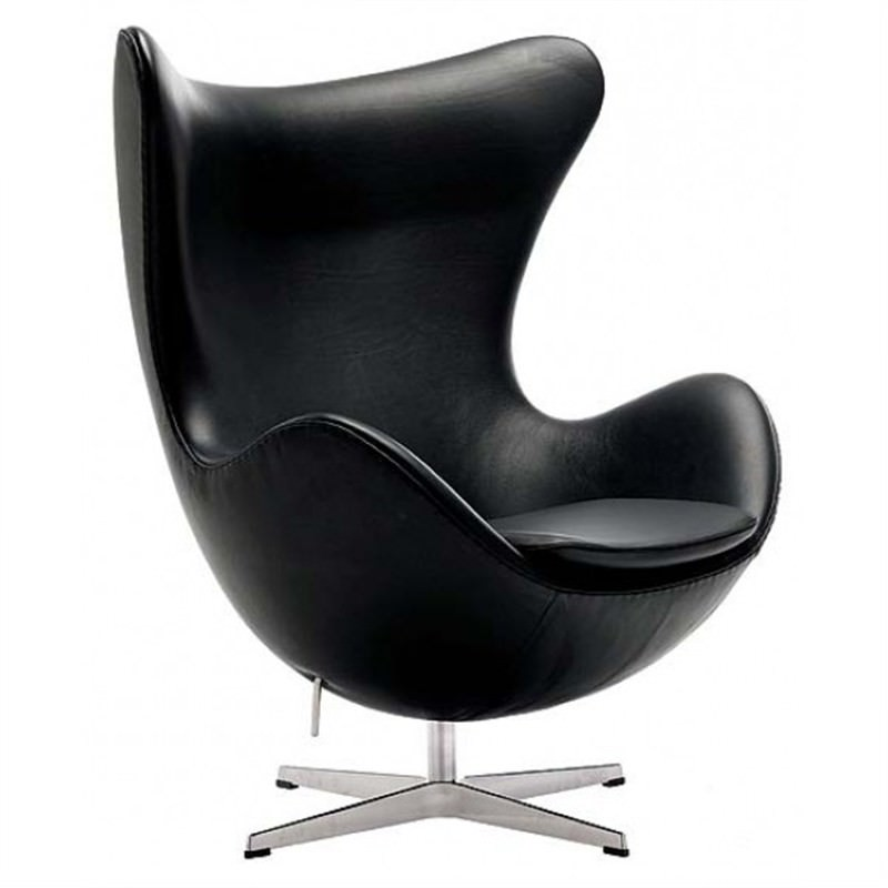 Replica Egg Chair - Black Leather