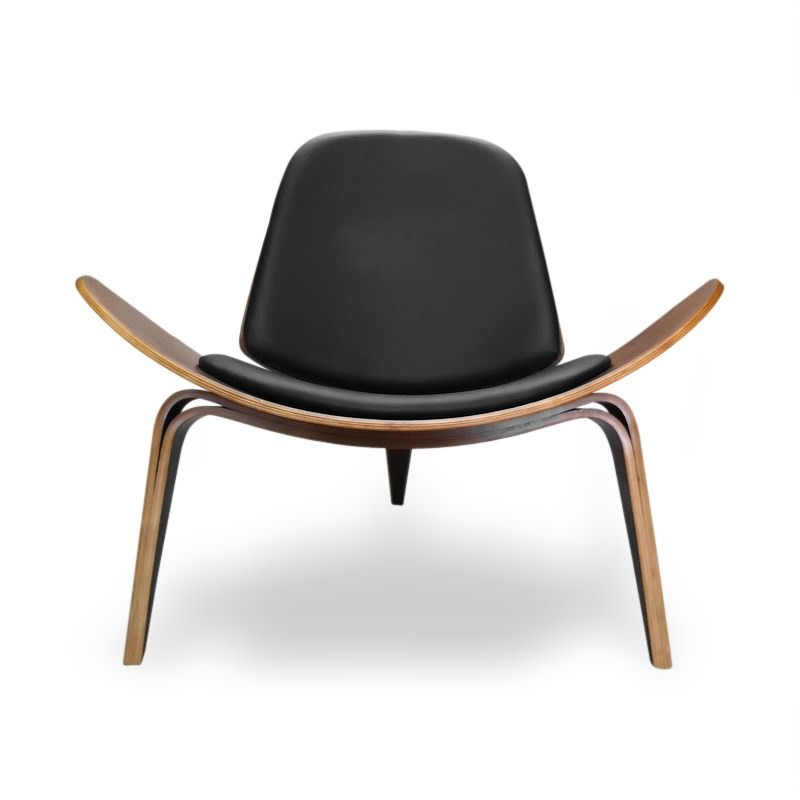 Replica Hans Wegner Shell Chair in Black