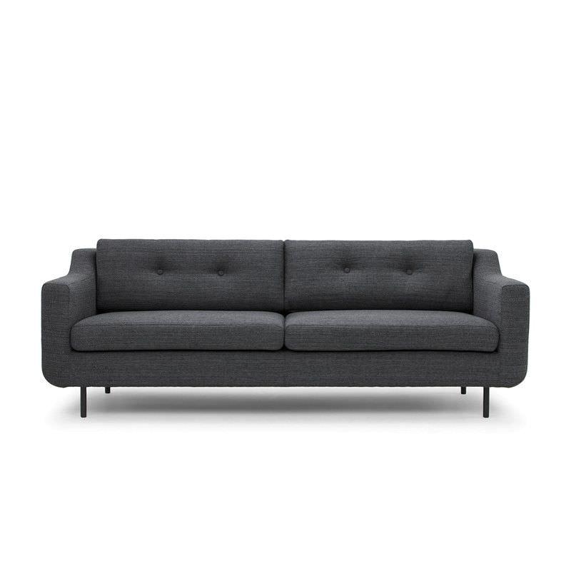 Saxen Fabric 3 Seater Sofa, Dark Grey