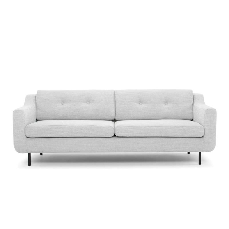 Saxen Fabric 3 Seater Sofa, Light Grey