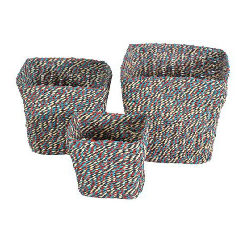 Kaleidoscope 2 Piece Woven Paper Twine Basket Set