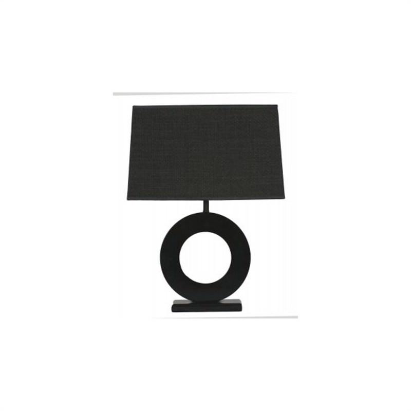Donatella Circle Lamp - Black
