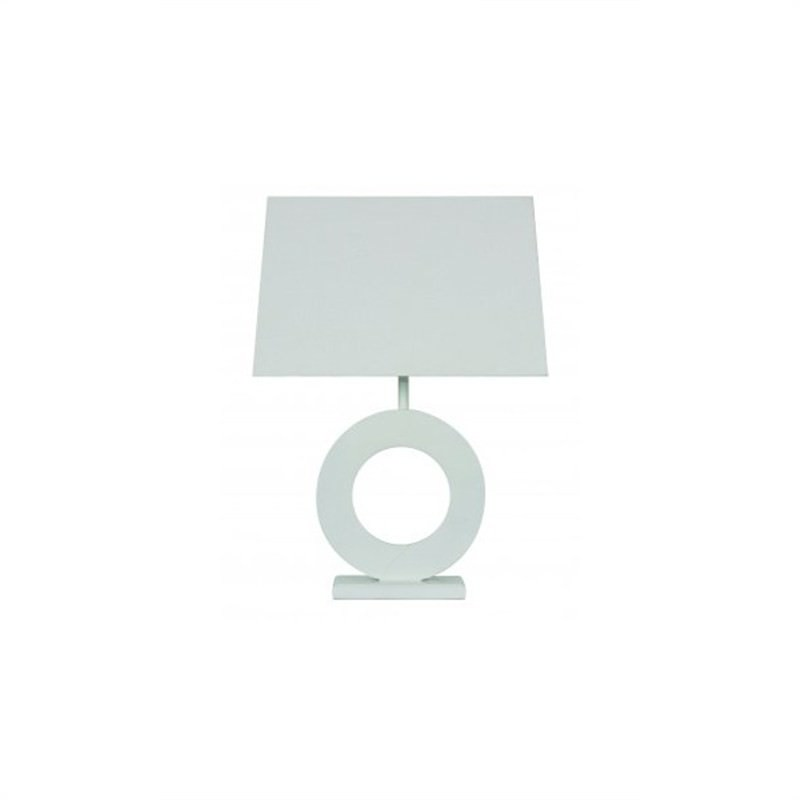 Donatella Circle Lamp - White
