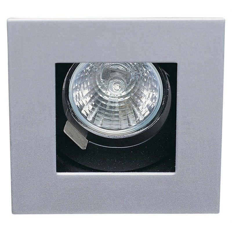 Leeda Squareline Deep Recess Downlight - Silver (Oriel Lighting)