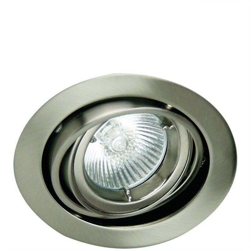 Rondo Double Pivot Downlight - Brushed Chrome (Oriel Lighting)