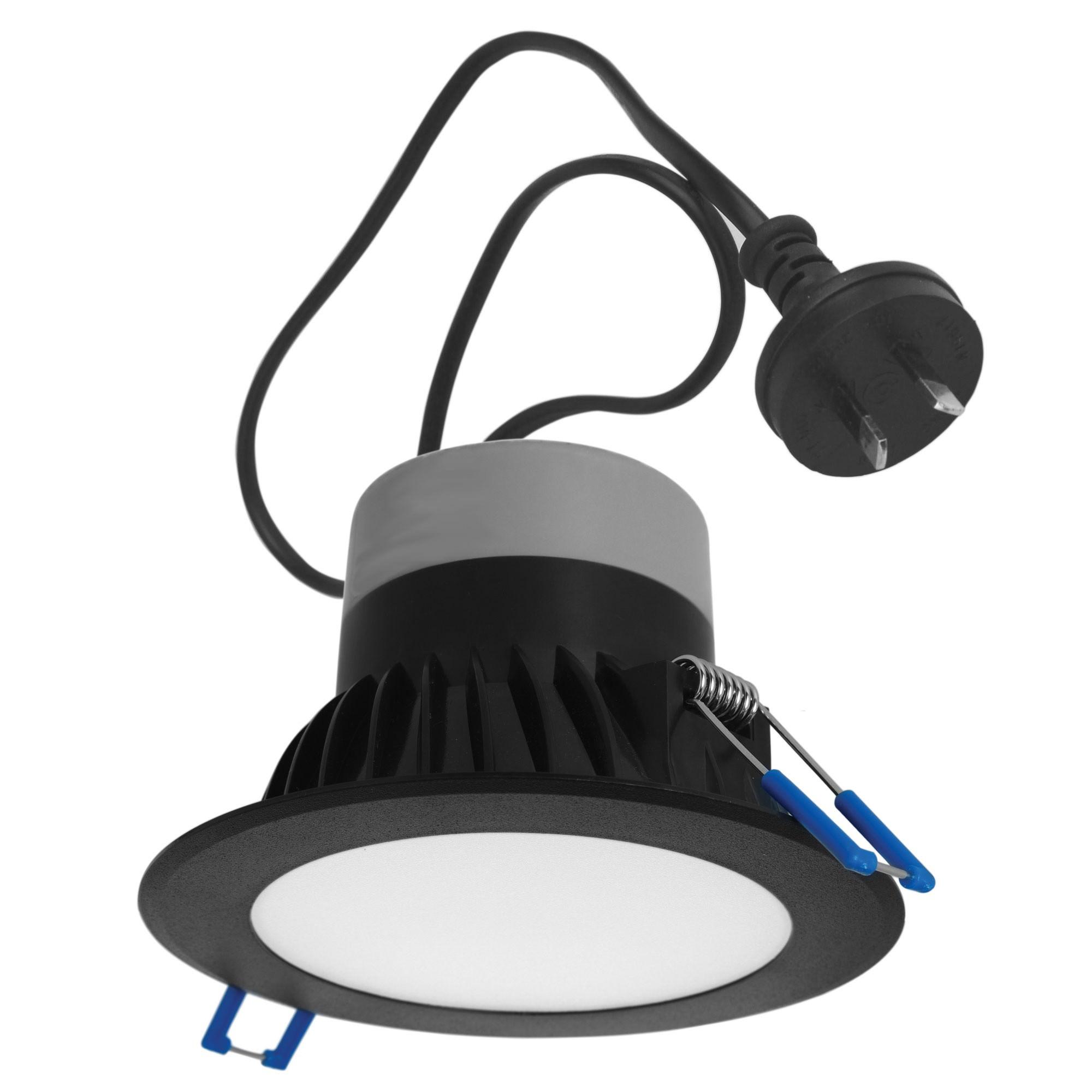 Proton IP44 Indoor / Outdoor LED Downlight, 5000K, Black