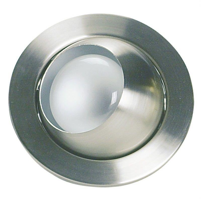 Eyeball Recessed Directional Eyeball Downlight - Brushed Chrome (Oriel Lighting)