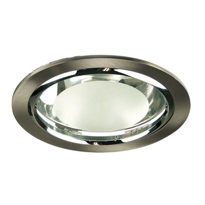 Litek Side Entry Twin Energy Efficient Downlight - Brushed Chrome (Oriel Lighting)