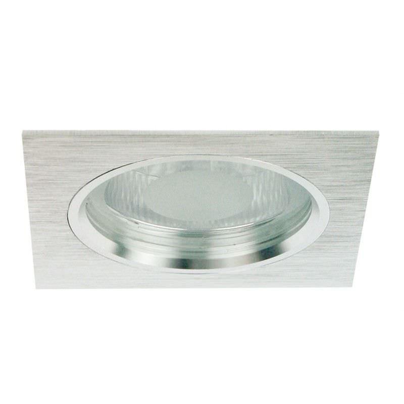 Dida Brushed Aluminium Square Recessed Downlight (Oriel Lighting)