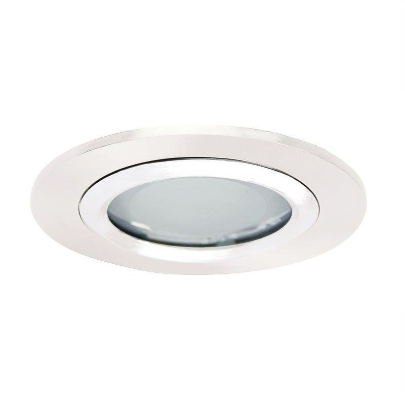 Vida Glass Covered Downlight - White (Oriel Lighting)