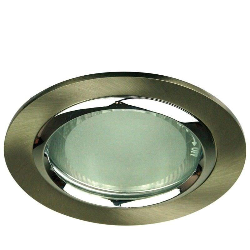 Vida Round Glass Covered Downlight - Brushed Chrome (Oriel Lighting)