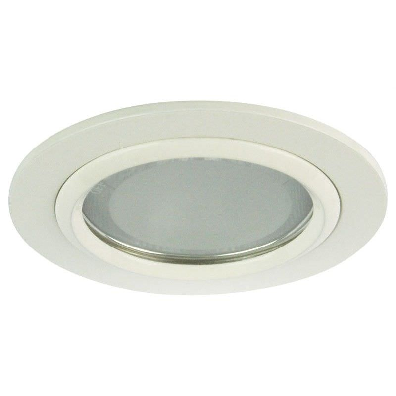 Vida Round Glass Covered Downlight - White (Oriel Lighting)
