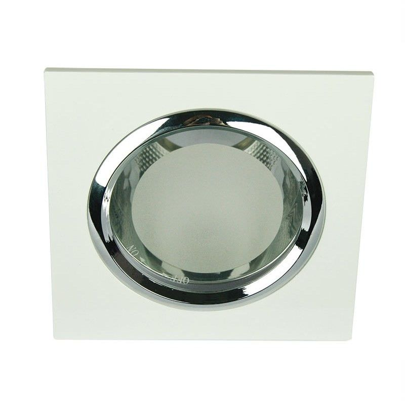 Vida Square Glass Covered White Recessed Downlight (Oriel Lighting) (LF4595WH)