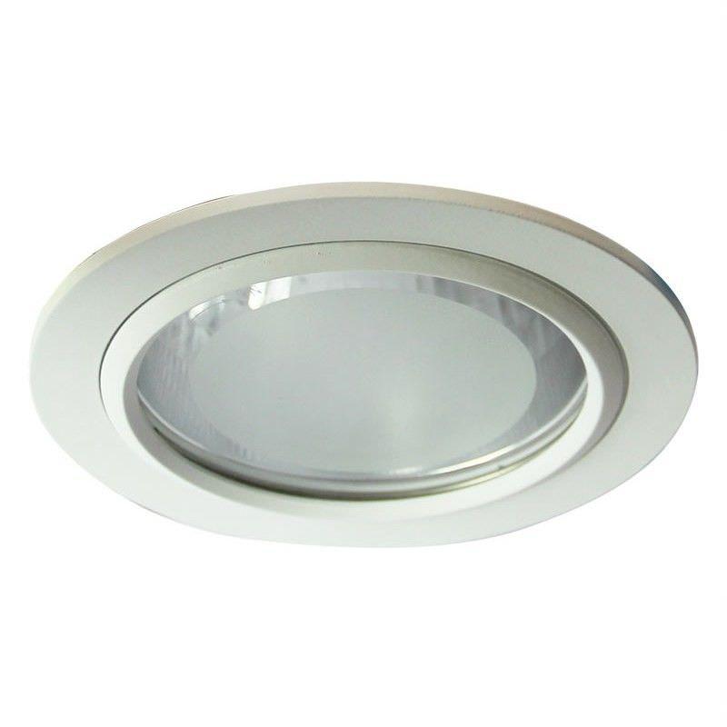 Vida Glass Covered White Recessed Downlight (Oriel Lighting)