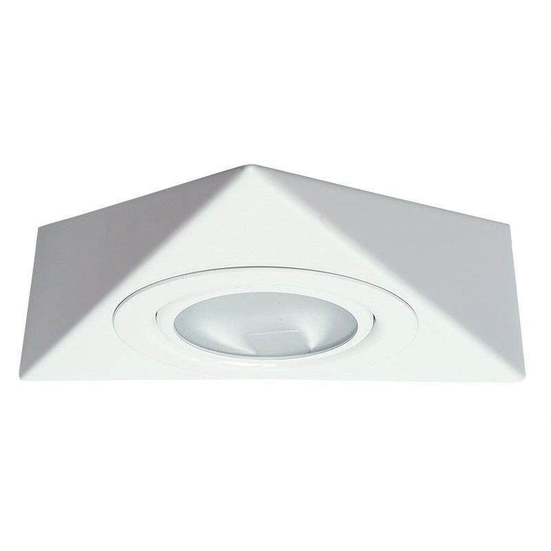 Triangle 12V Triangle Shaped Under Bench Halogen Light - White (Oriel Lighting)