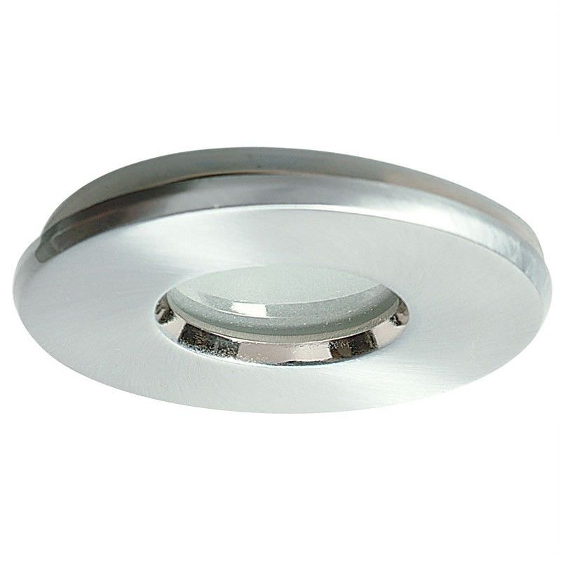 Voda Ip65 12V Glass Covered Downlight - Brushed Chrome (Oriel Lighting)
