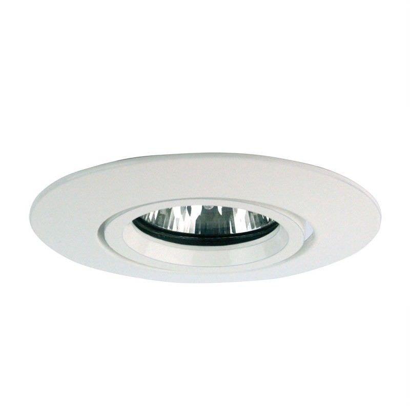 12V White Adjustable Downlight Trim - White (Oriel Lighting)