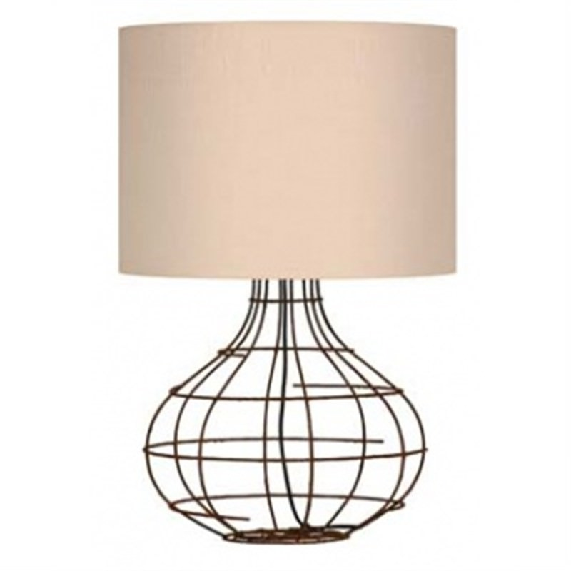 Wire Frame Table Lamp, -Bulb-