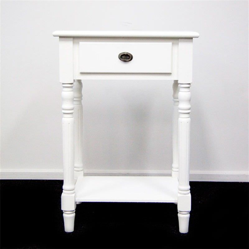 Bercy 1 Drawer Wooden Bedside Table