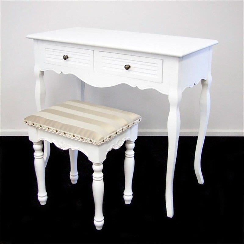 Vaujours 2 Drawers Dressing Table Chatou Dressing Stool