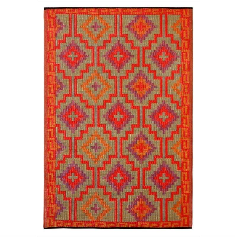 Lhasa 90x179cm Reversible Outdoor Rug - Red