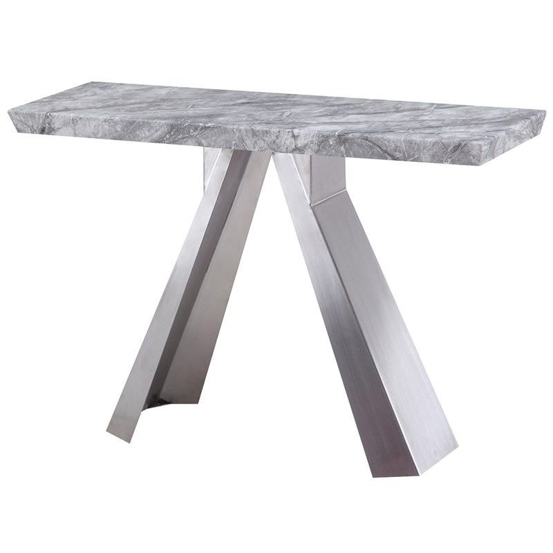 Carmen Marble Top Stainless Steel 120cm Console Table