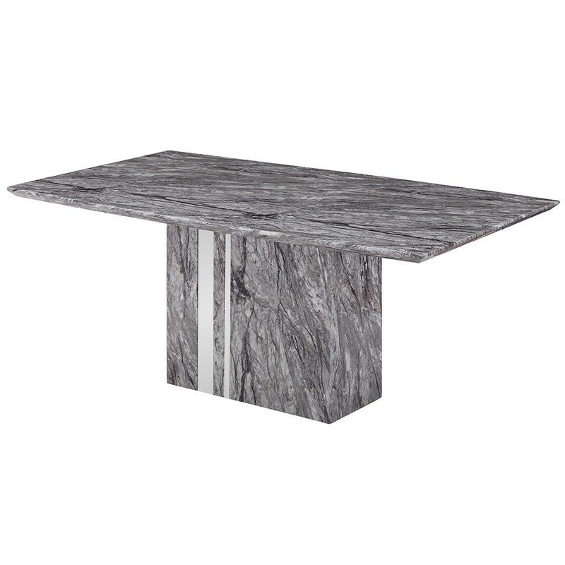 Nicasio Marble 180cm Pedestal Dining Table