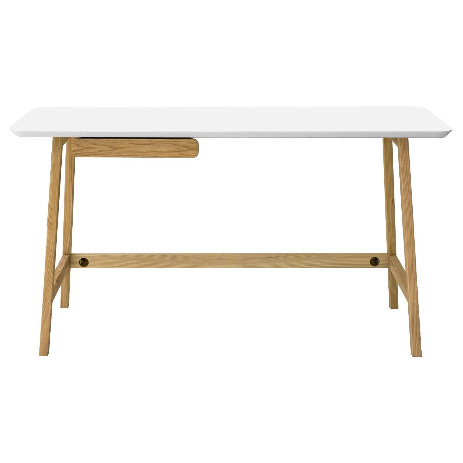 Katon Wooden Study Desk 140cm White Natural