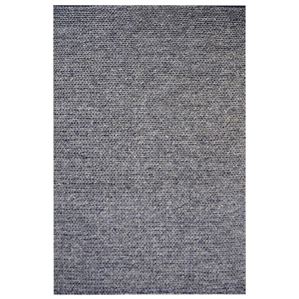 Bramston Braided Modern Wool Rug, 280x190cm, Ash Grey