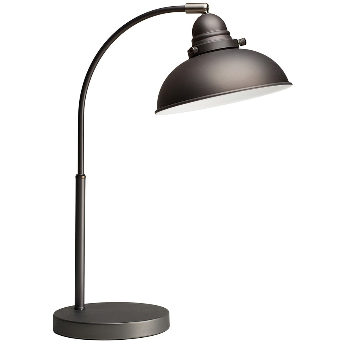 Manor Metal Desk Lamp, Antique Chrome