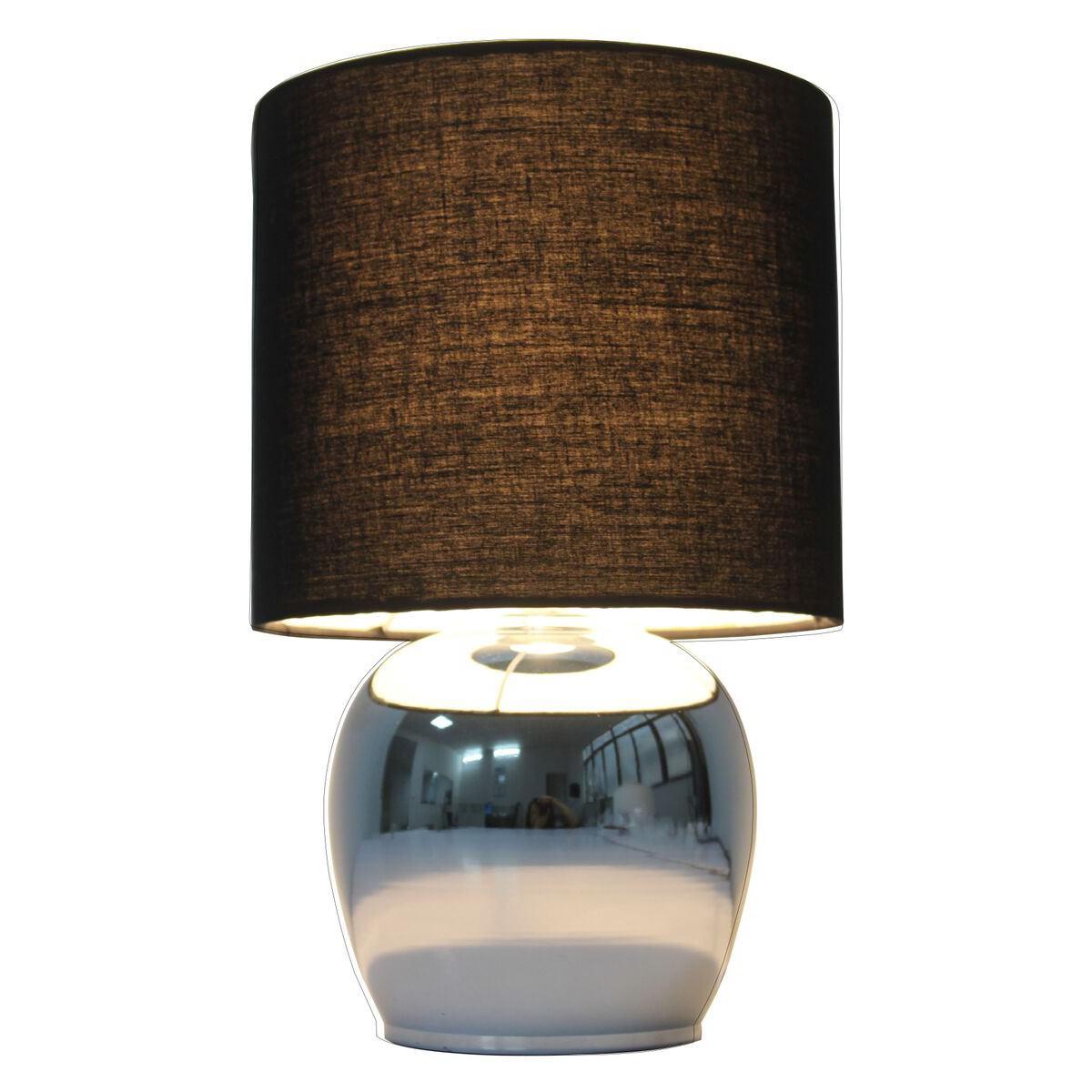Corin Metal Base Touch Table Lamp, Black